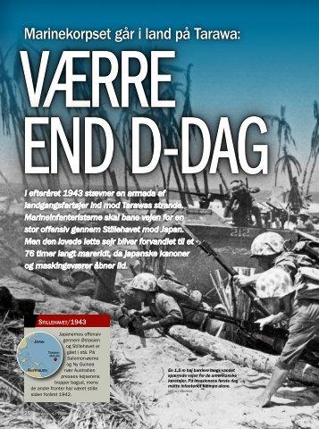 Marinekorpset går i land på Tarawa: Værre end D-dag