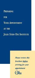 Preparing for Your Appointment - Jules Stein Eye Institute