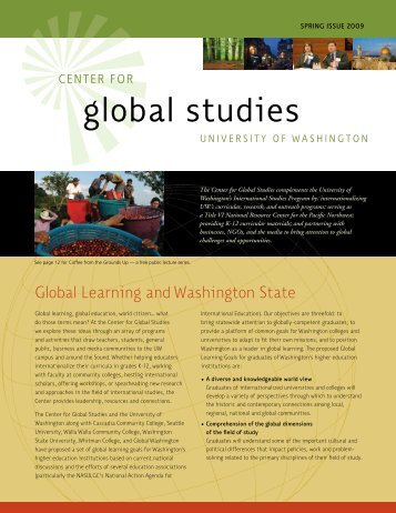 global studies - Jackson School of International Studies - University ...