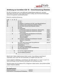 Anleitung zur korrekten ICD 10 – Verschlüsselung Diabetes