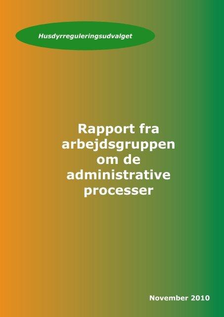Rapport fra arbejdsgruppen om forenkling af de ... - Miljøstyrelsen