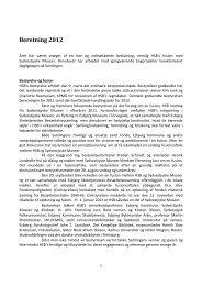 HSB's beretning 2012 - Historisk Samling fra Besættelsestiden 1940 ...