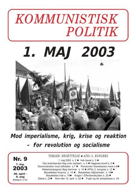Kommunistisk Politik 9, 2003
