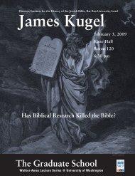 James Kugel - University of Washington