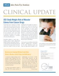 View August 2012 Clinical Update - Jules Stein Eye Institute