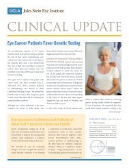 View January 2010 Clinical Update - Jules Stein Eye Institute