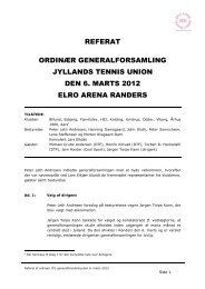 Referat Generalforsamling 2012. - Jyllands Tennis Union