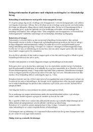 Deltagerinformation til patienter med whiplash om deltagelse i et ...