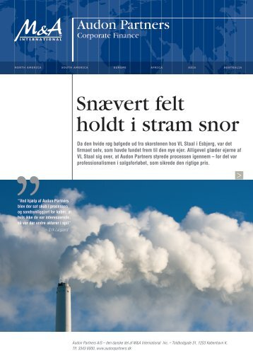 Snævert felt holdt i stram snor - Audon Trap & Partners