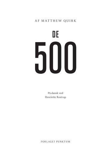 De 500 - Forlaget Punktum