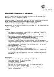 administrativ leder stillingsopslag - Asgård Skole