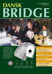 Dansk Bridge nr. 595 - Siden med 'knapperne' i den venstre ramme ...