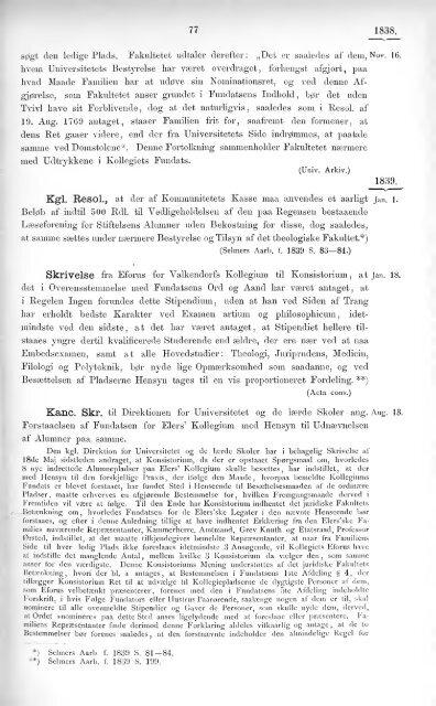 Samling af de for Universitets Legater gjaeldende Bestemmelser
