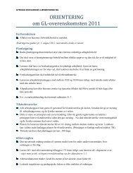FAKTA om GL-OK11.docx - Gymnasieskolernes Lærerforening