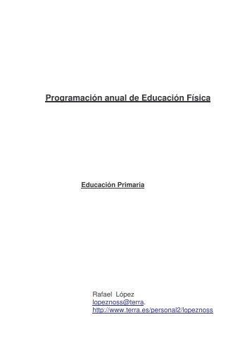 Programación anual de Educación Física Educación Primaria