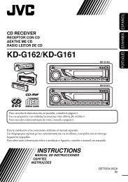 KD-G162/KD-G161 - Jvc