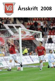 Årsskrift 2008 - Vejle Boldklub