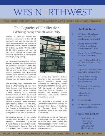 The Legacies of Unification - Jackson School of International ...