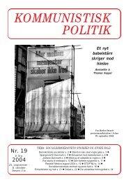 Kommunistisk Politik 19, 2004