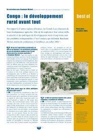 best of Congo : le développement rural avant tout - SOS Faim