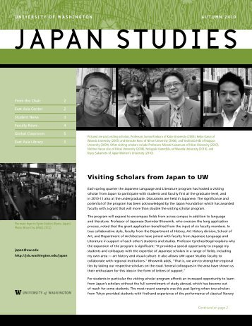 Visiting Scholars from Japan to UW - Jackson School of International ...
