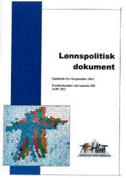 Lønnspolitisk dokument - Høgskolen i Nord-Trøndelag