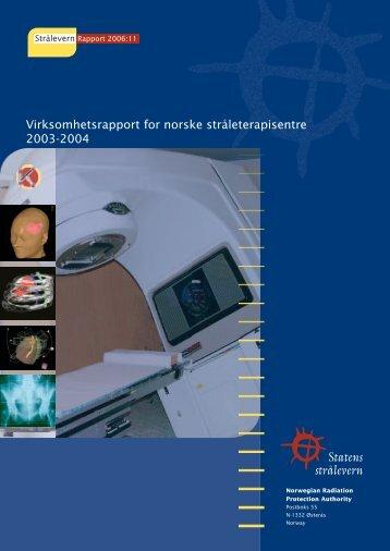 StrålevernRapport 2006:11 - Statens strålevern