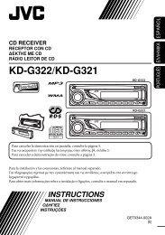 KD-G322/KD-G321 - Jvc