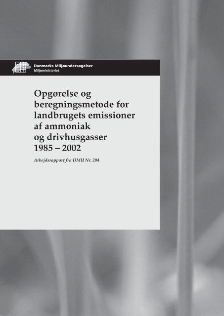 Opgørelse og beregningsmetode for landbrugets ... - Sickpigs.dk