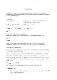 PROTOKOLL LØNN Endringer pr. 1. januar 2013 Trinn A-2,8-1, C-1 ...