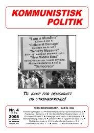 Kommunistisk Politik 4, 2008