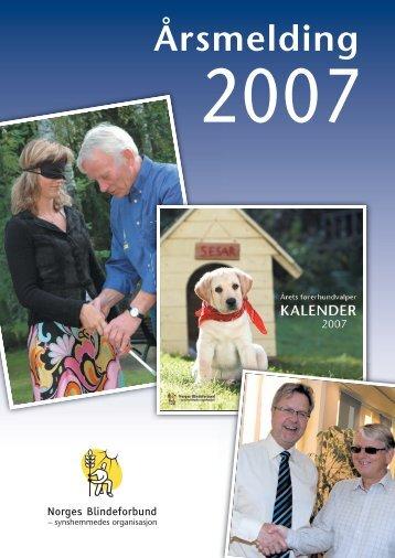 Årsmelding for 2007 - Norges Blindeforbund