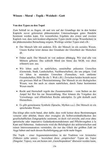 Wissen – Moral - Topik - Weisheit - Gott - Juergen-bellers.de