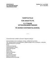 tariffavtale for ansatte på flyttbare offshoreinnretninger på norsk ...