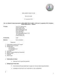 Bestyrelsesmøde, 24. september 2012 - Mollerup Golf Club