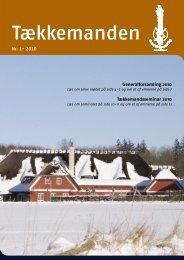 Tækkemanden 1/2010 - Dansk Tækkemandslaug