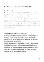 1 Bestyrelsens beretning ved generalforsamlingen d. 25. Maj 2011 ...