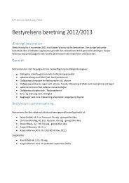 Bestyrelsens beretning 2012/2013 - Universitetshaven
