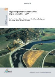 Reguleringsundersøkelser i Orkla for perioden 2007 - 2011 - NINA