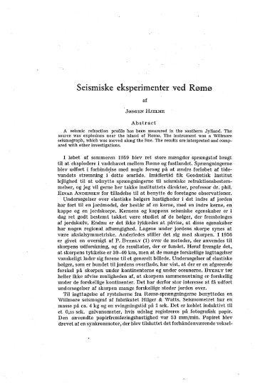 Seismiske eksperimenter ved Rømø. (English summary) s. 406