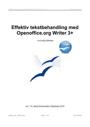 Effektiv tekstbehandling med Openoffice.org Writer 3+