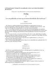 Forslag Lov om godkendte revisorer og revisionsvirksomheder ...