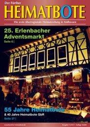 25. Erlenbacher Adventsmarkt Fr 55 Jahre Heimatbote - frther ...