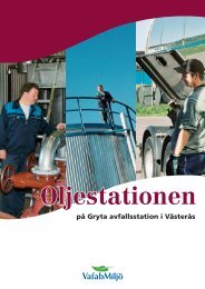 Oljestationen på Gryta avfallsstation i Västerås - VafabMiljö
