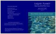 Liquid Planet - Jackson School of International Studies - University ...