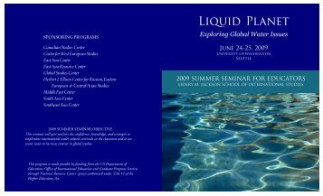 Liquid Planet - Jackson School of International Studies - University ...
