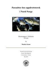 Parasitter hos oppdrettstorsk i Nord-Norge - Munin - Universitetet i ...