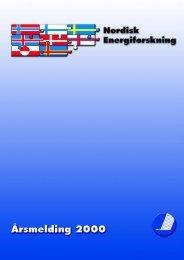 Nordisk Energiforsknings (NEFPs) - Nordic Energy Research