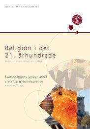 Religion i det 21. ârhundrede - Københavns Universitet