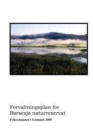 Forvaltningsplan for Børsesjø naturreservat - Fylkesmannen.no